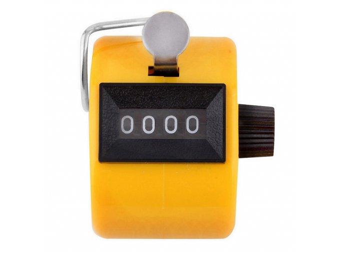 clicker ruční počítadlo žluté 01