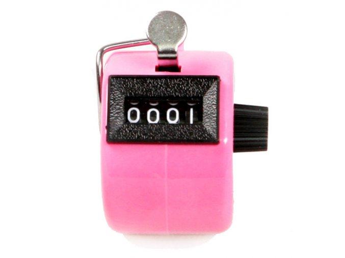 Ruční počítadlo clicker růžový 01