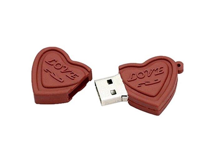 16 GB USB flash disk Čokoládové srdíčka 01