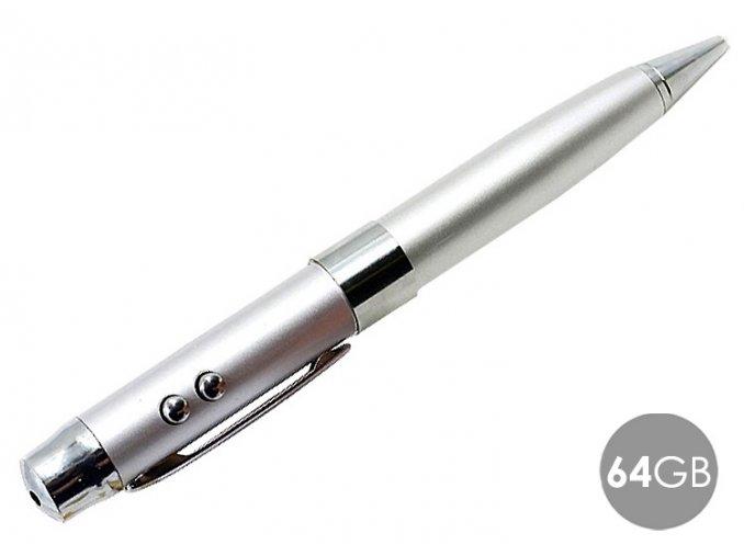 5v1 propiska s laserem stribrna 64GB