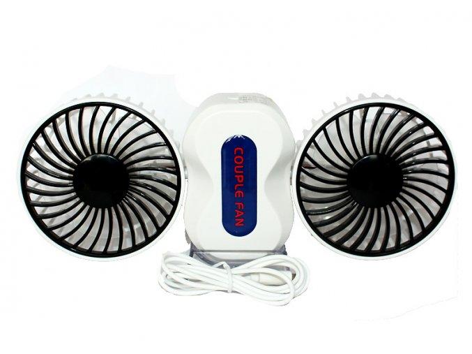 stolní USB ventilátory Couple fan černobílý 01