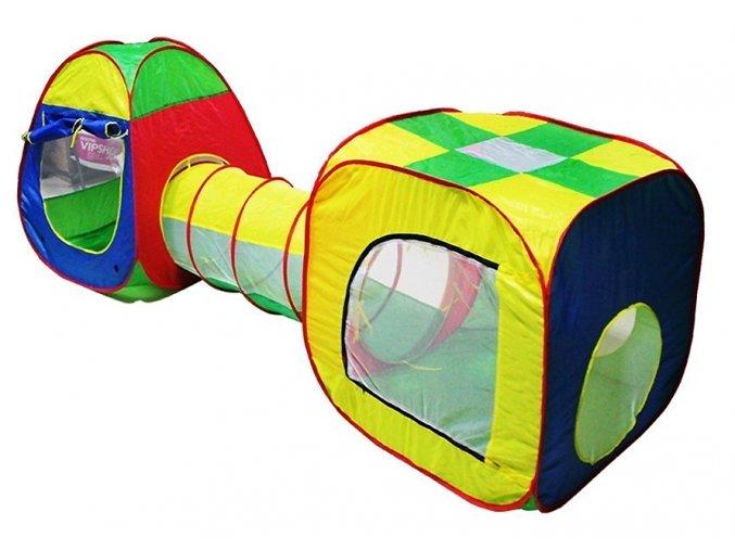 3v1 dětský stan tunel multicolor 02