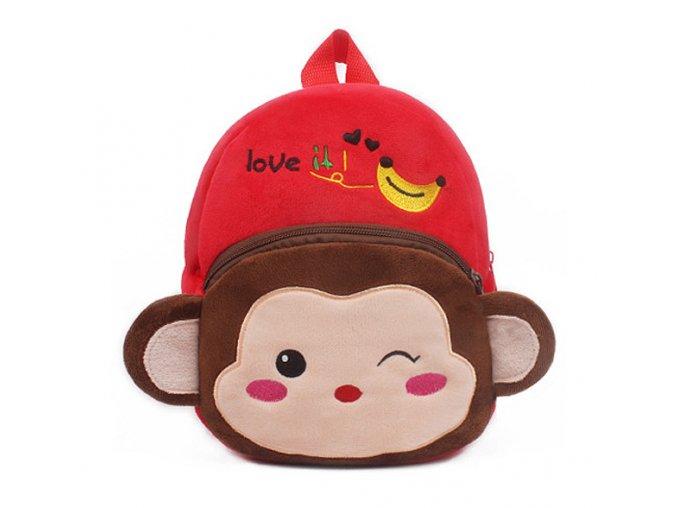 Batoh pro děti opice červený 01