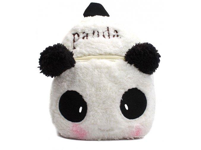 Dětský batůžek Panda bílý 01