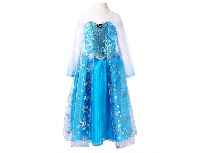 Kostým šaty Elsa modrobílé 01