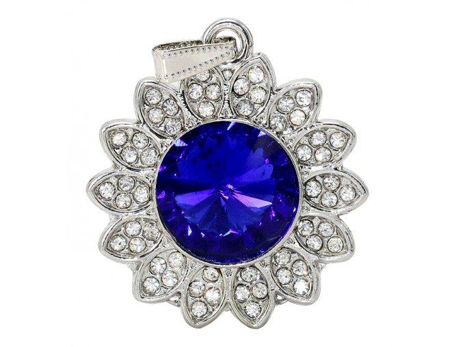 USB flash disk Diamond s modrým krystalem a