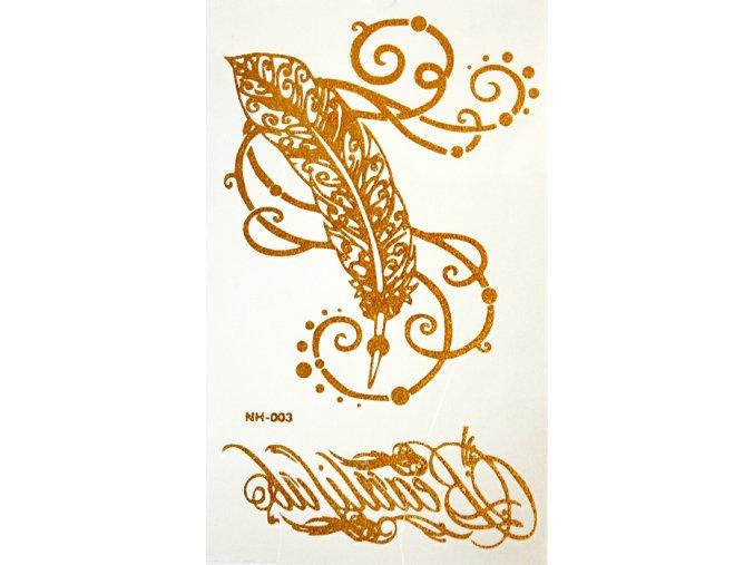 Zlaté tetování Gold Tattoo NH 003