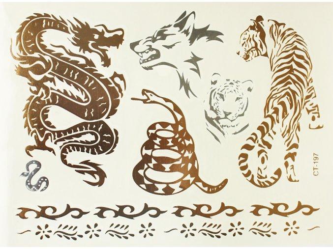Metalické tetování Drak & Tygr CT 197