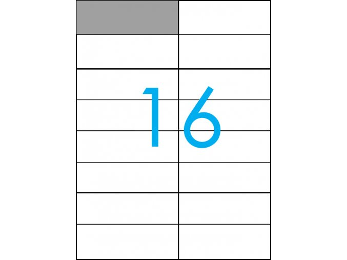 samolepicí štítky A4 do tiskárny 16