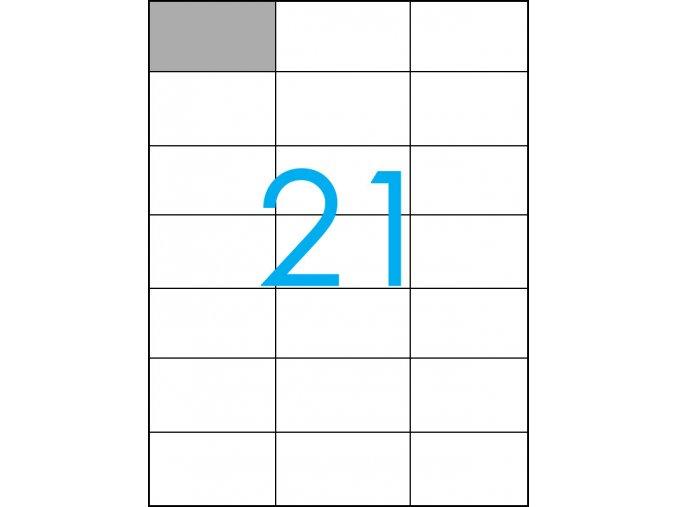 samolepicí štítky A4 do tiskárny 21