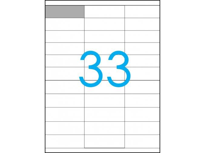 samolepicí štítky A4 do tiskarny 33