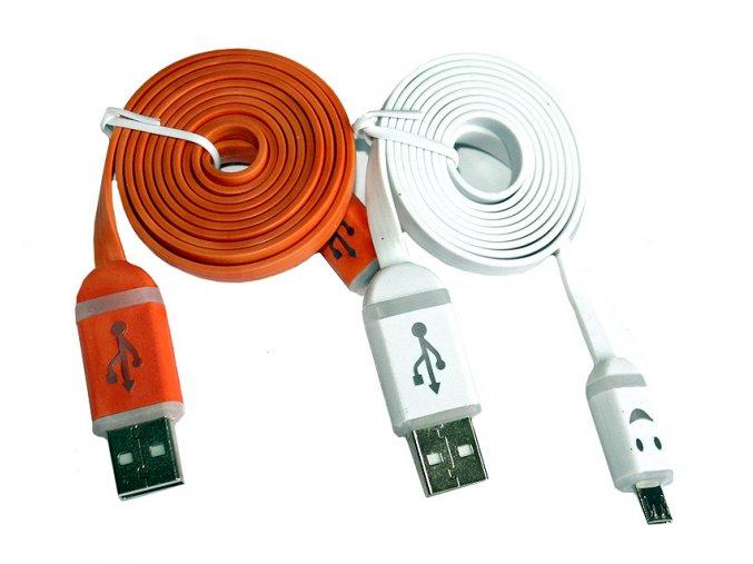 PLochý USB kabel svítící koncovky