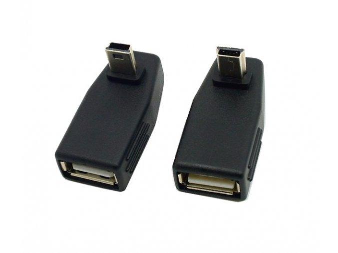 úhlová redukce miniUSB USB pár 01