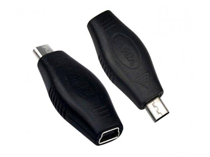 Redukce oválná rovná miniUSB micro USB