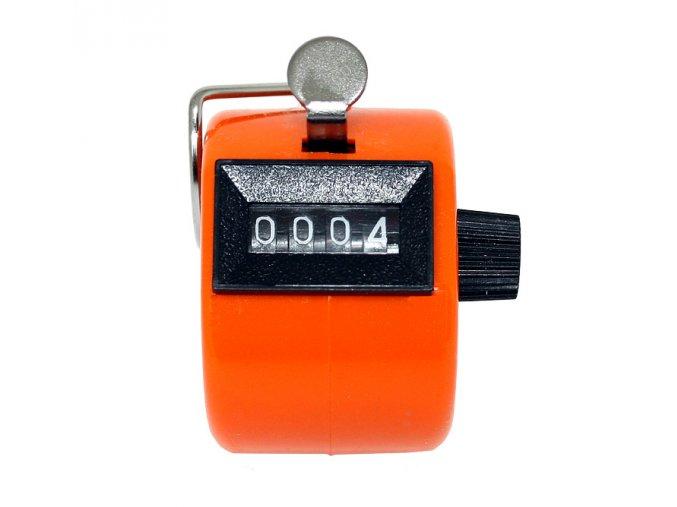 Ruční počítadlo Clicker oranžové 01