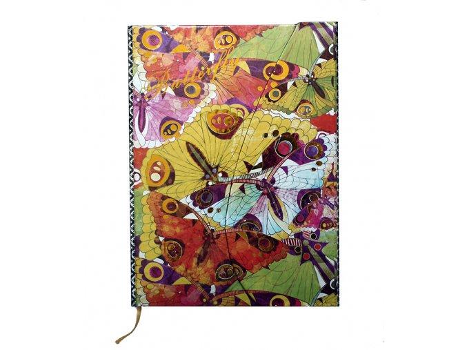 Poznámkový notes linkovaný Butterfly 03