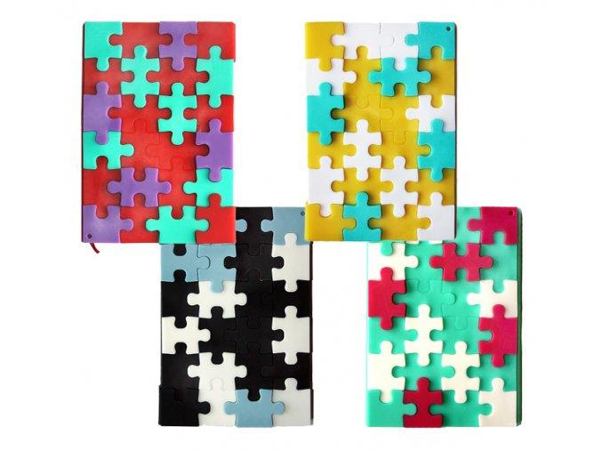 poznámkové notesy puzzle A6