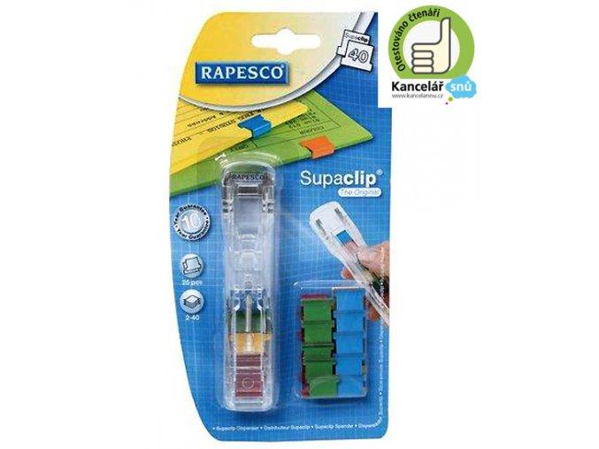Dávkovač na kancelářské klipy Rapesco Supaclip mix 00