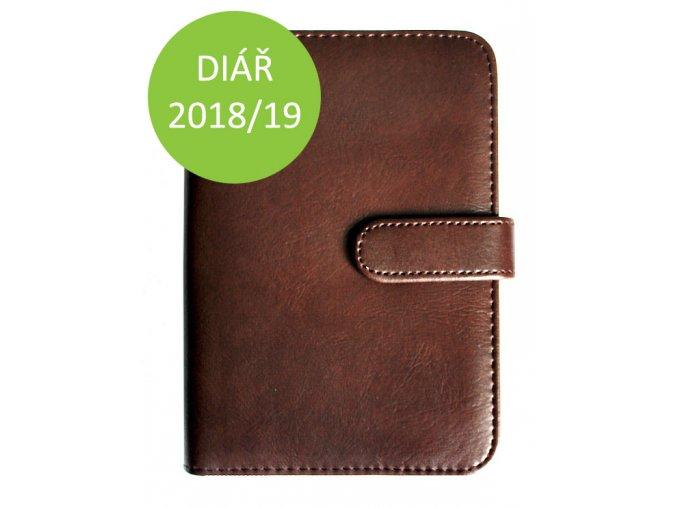 Manažerský plánovací diář 2018 2019 hnědý