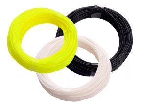 Set ABS struny pro 3D pero bílá černá žlutá