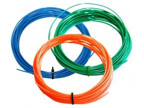 Set ABS struny pro 3D pero modrá zelená oranžová