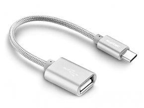 USB kabel Type C 15 cm stribrny 01