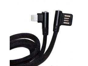 Úhlový USB kabel pro iPhone iPod 8pin černý