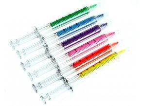 Zvýrazňovače Injekce 6 barev 01