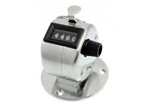 Ruční počítadlo clicker stříbrný s podložkou 01