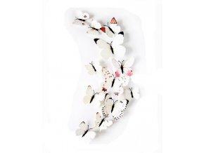 3D motýlci na zeď burgundy 01