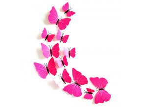 Dekorace na zeď motýli růžoví