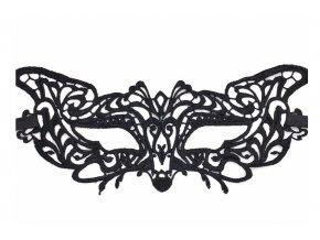Černá krajková maska KITTY