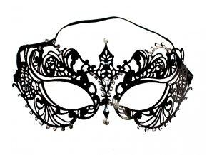 Černá pevná maska Artemis 01
