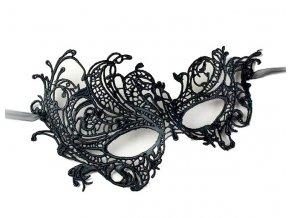 Krajková maska Secret černá 01