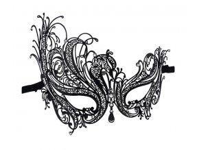 Kovová krajková maska Masquerade 01
