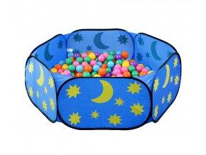 Modrý bazén na míčky Měsíc a hvězdy 01