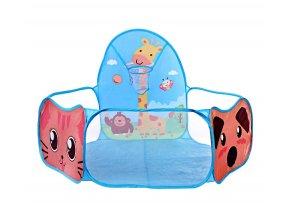 Látkový bazén na míčky Žirafa modrý 01