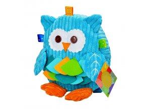 Dětský batoh pro kluky modrá sova 01