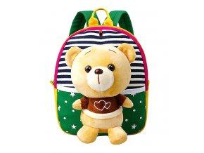 Dětský batoh s plyšákem Medvídek Green 01