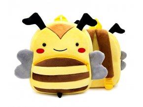 Plyšový batůžek pro předškoláky Včela 02