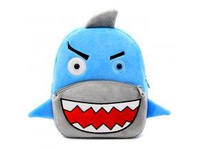 Plyšový batůžek pro předškoláky Žralok 01