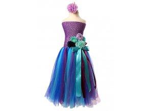 Kostým tylové dívčí šaty KSUMMEREE modro fialové 01