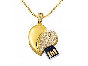 USB flash disk Srdíčko zlaté 01