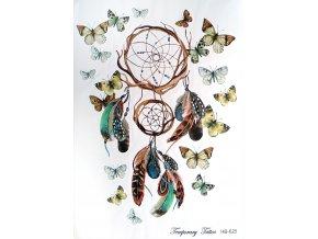 Nalepovací tetování Lapač snů a motýli HB 625