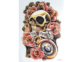 Nalepovací tetování Lebka & Freedom HL 540