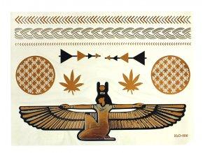 Metalické nalepovací tetování H2O 006 Bohyně