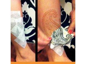 krycí páska na henna malování