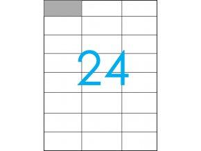 samolepicí štítky A4 do tiskárny 24
