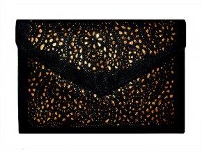 Vintage kabelka krajka černá 01