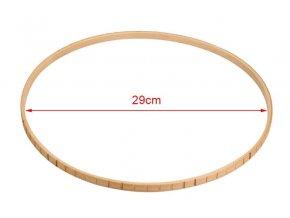 Dřevěný kruh na lapač snů rám se zářezy 01